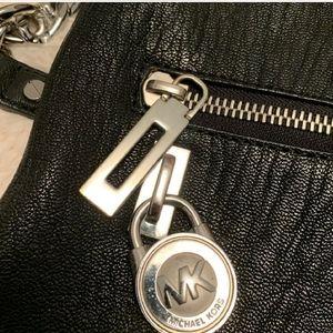 Black leather MK shoulder bag